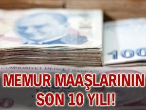 Memur maaşlarının son 10 yılı