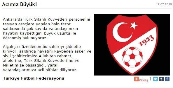 Spor dünyasından Ankara'daki saldırıya büyük tepki! 12