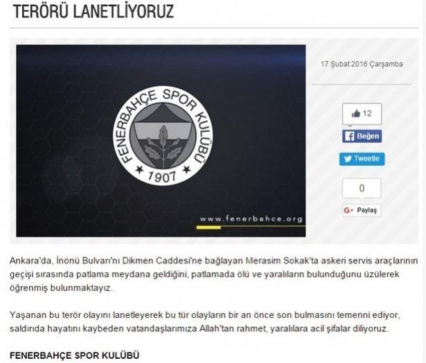 Spor dünyasından Ankara'daki saldırıya büyük tepki! 4