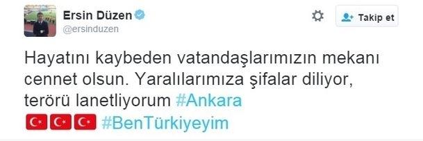 Spor dünyasından Ankara'daki saldırıya büyük tepki! 8
