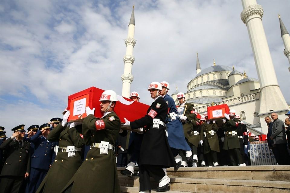 Ankara'daki Şehitlerimiz uğurlandı. 2