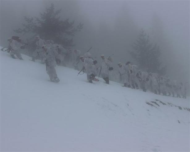 """""""Özel komando""""lar Ilgaz Dağı'nda kış eğitiminde 1"""