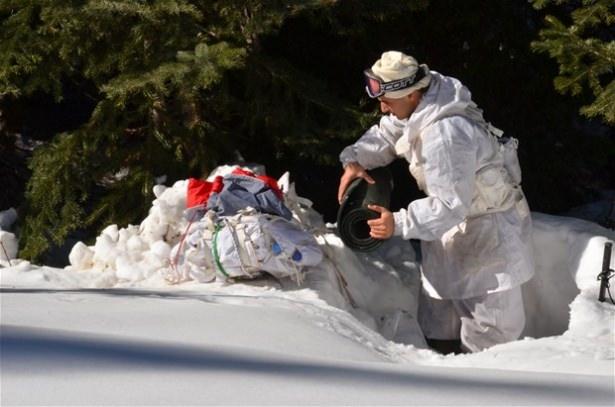 """""""Özel komando""""lar Ilgaz Dağı'nda kış eğitiminde 12"""