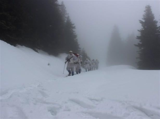 """""""Özel komando""""lar Ilgaz Dağı'nda kış eğitiminde 2"""