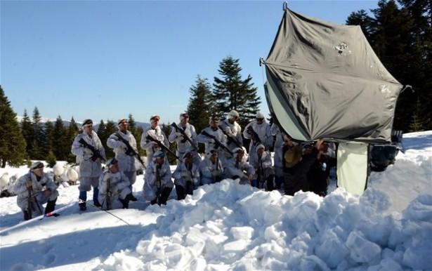 """""""Özel komando""""lar Ilgaz Dağı'nda kış eğitiminde 26"""