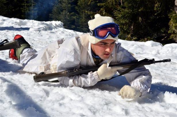 """""""Özel komando""""lar Ilgaz Dağı'nda kış eğitiminde 5"""