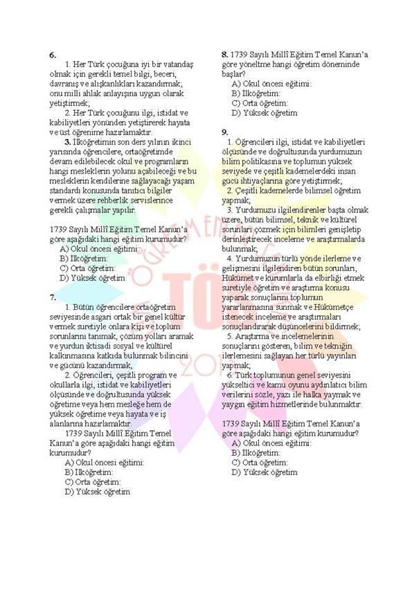 Müdür Yardımcılığı Sınavı Soru Bankası 1739 2