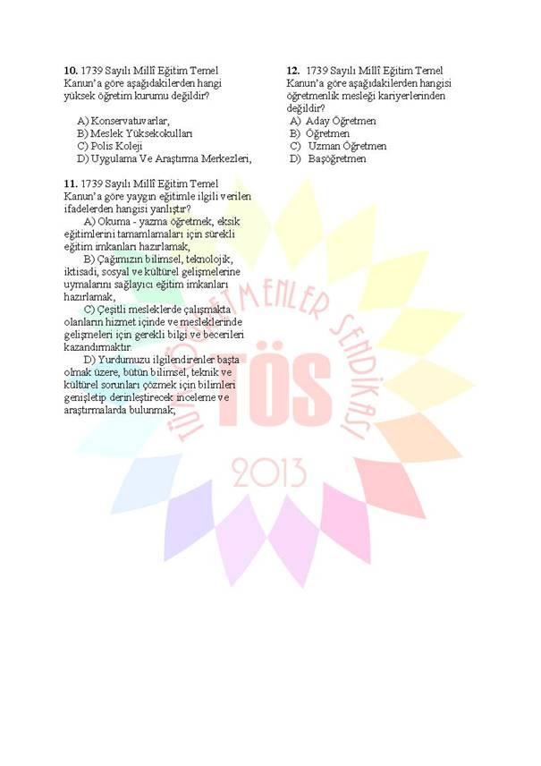 Müdür Yardımcılığı Sınavı Soru Bankası 1739 3