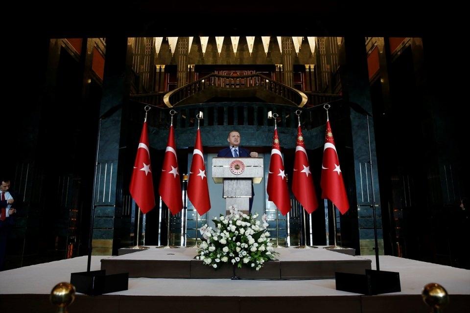 Erdoğan'dan 'Dünya Kadınlar Günü' resepsiyonu 2