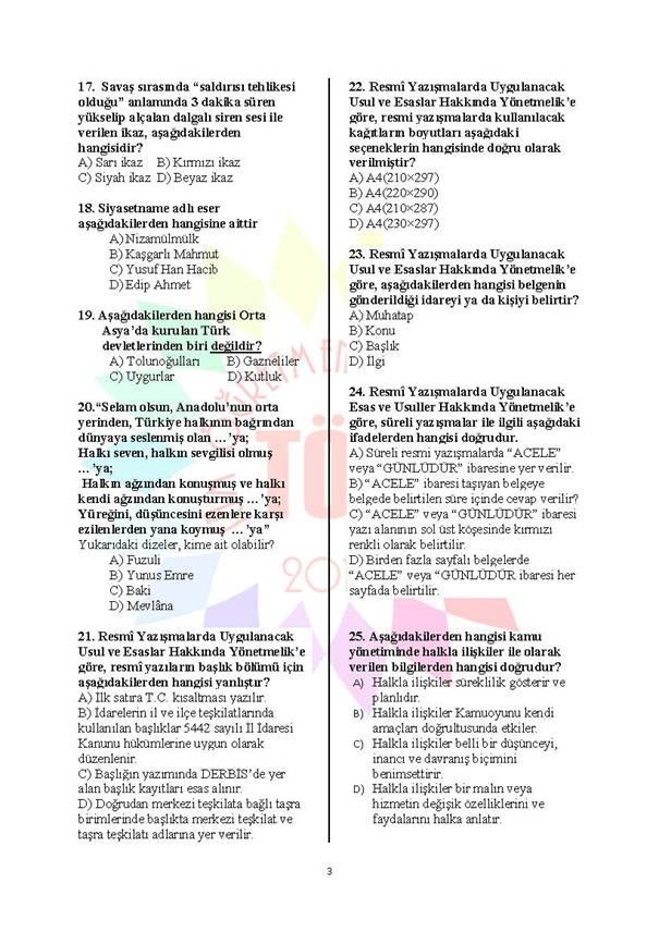 Müdür Yardımcılığı Deneme Sınavı - 2 3