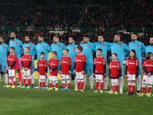 Avusturya-Türkiye maçından kareler