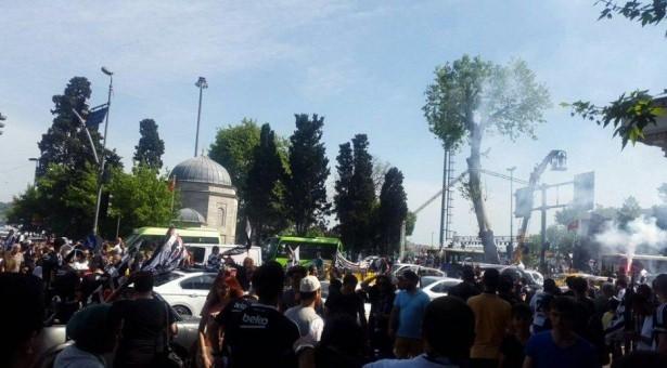 Beşiktaş taraftarı kutlamalara erken başladı 21