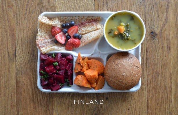 İşte ülkelere göre okullarda sunulan yemekler! 11