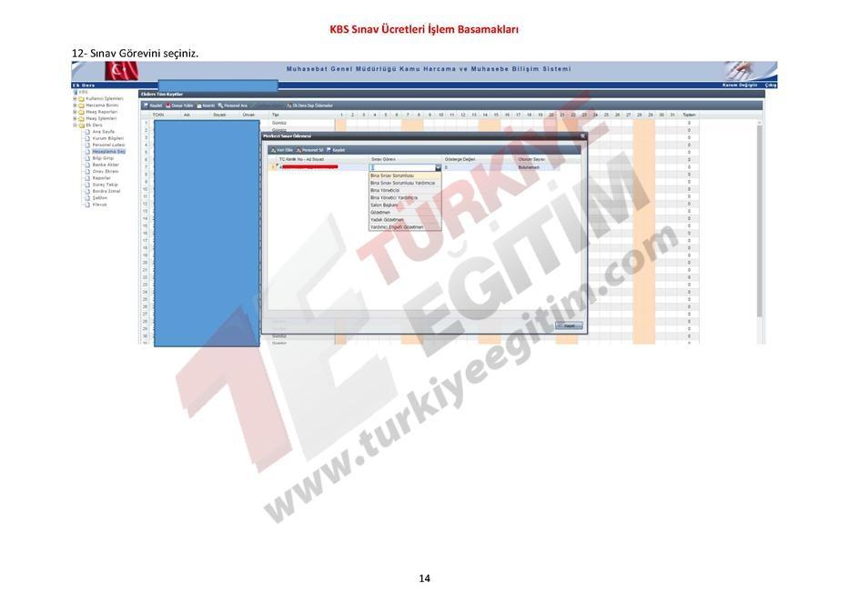 KBS Sınav Ücretleri İşlem Basamakları 14