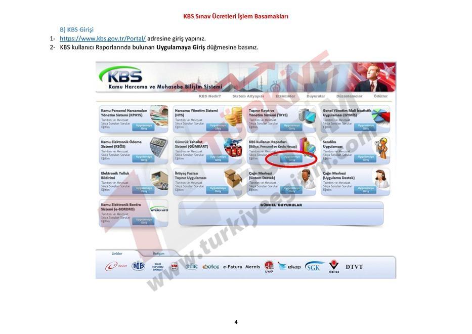 KBS Sınav Ücretleri İşlem Basamakları 4