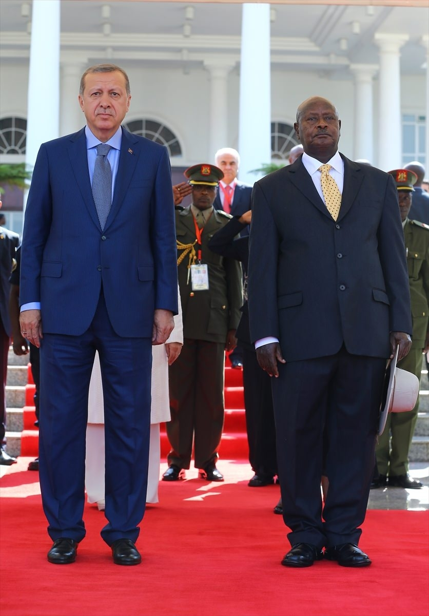 Cumhurbaşkanı Erdoğan Uganda'da 1