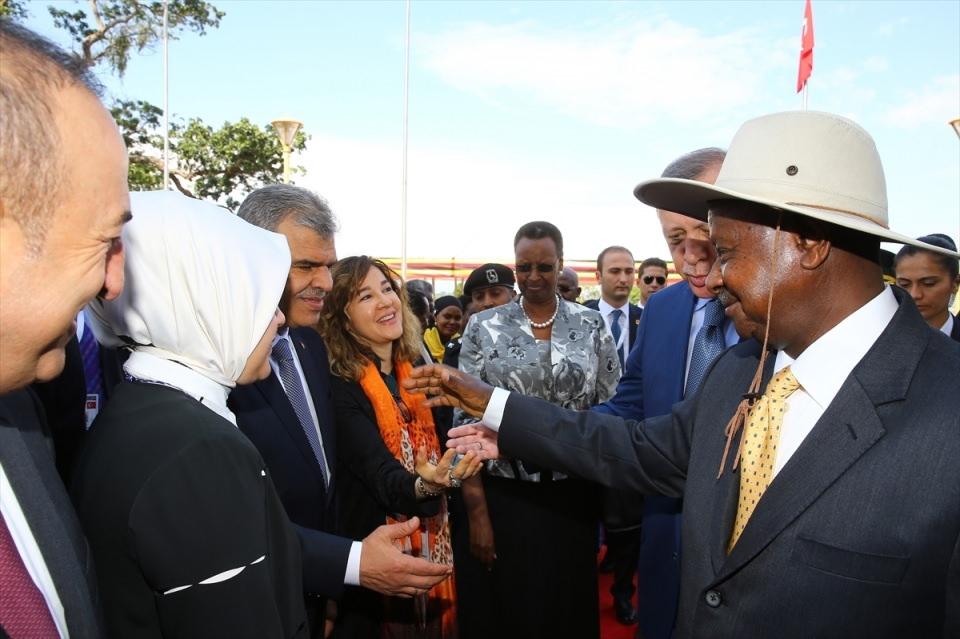 Cumhurbaşkanı Erdoğan Uganda'da 14