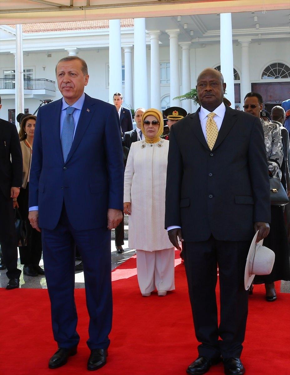 Cumhurbaşkanı Erdoğan Uganda'da 7