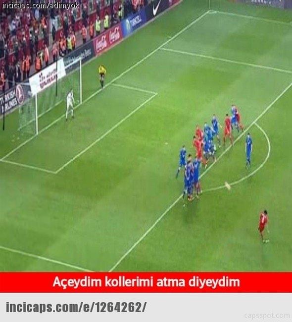 Türkiye-İspanya maçı capsleri! 1
