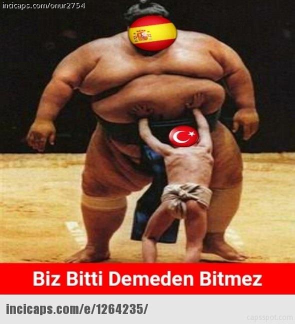 Türkiye-İspanya maçı capsleri! 11