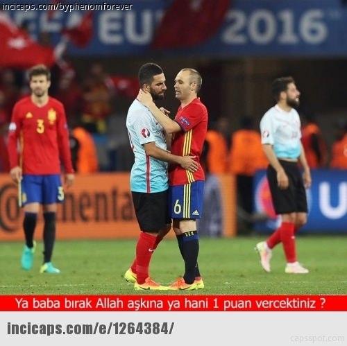 Türkiye-İspanya maçı capsleri! 6