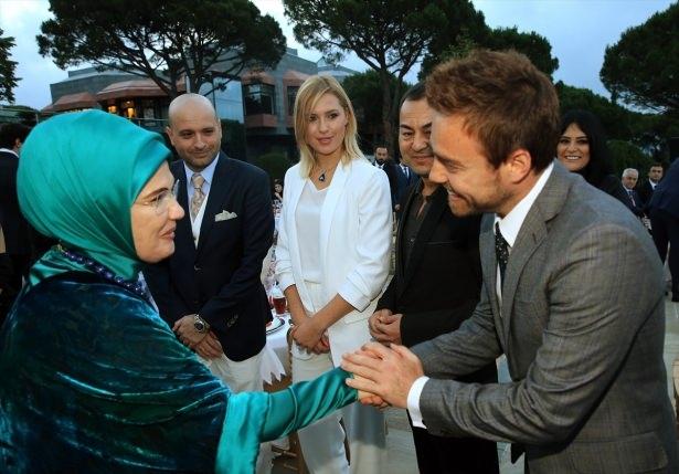 Erdoğan sanatçı ve sporcuları ağırladı 10