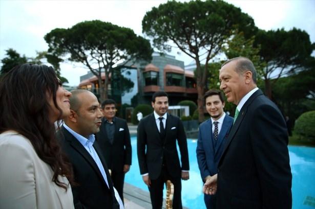Erdoğan sanatçı ve sporcuları ağırladı 16