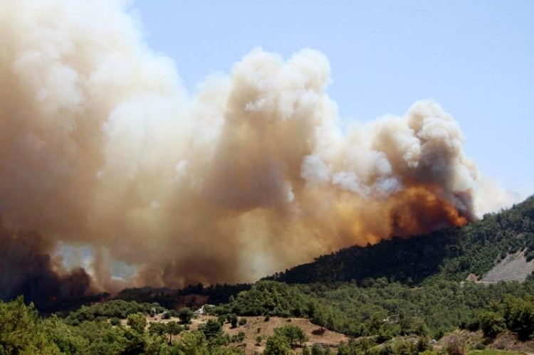 Tatil cenneti alev alev yanıyor! 10
