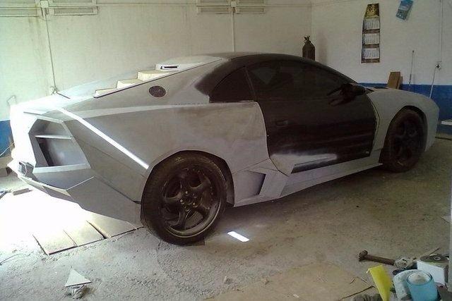 Evinde Lamborghini yaptı! 22