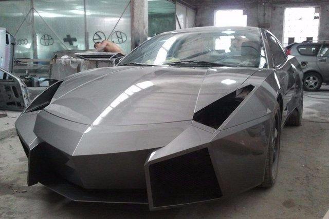 Evinde Lamborghini yaptı! 33