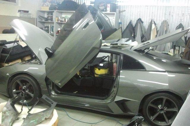 Evinde Lamborghini yaptı! 44