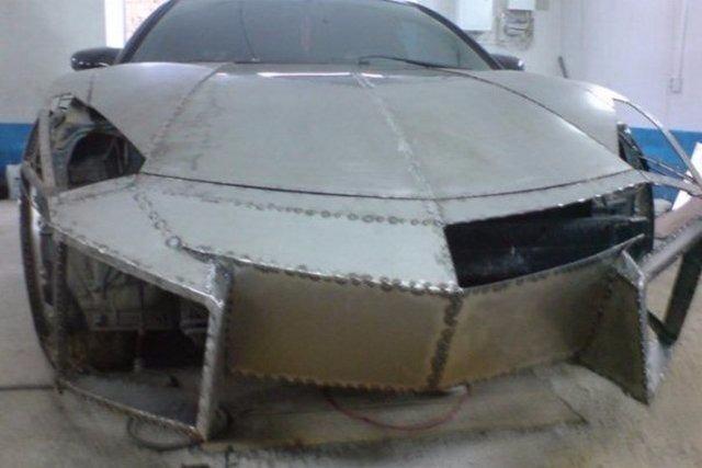 Evinde Lamborghini yaptı! 7