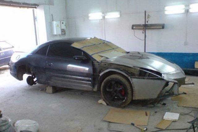 Evinde Lamborghini yaptı! 9