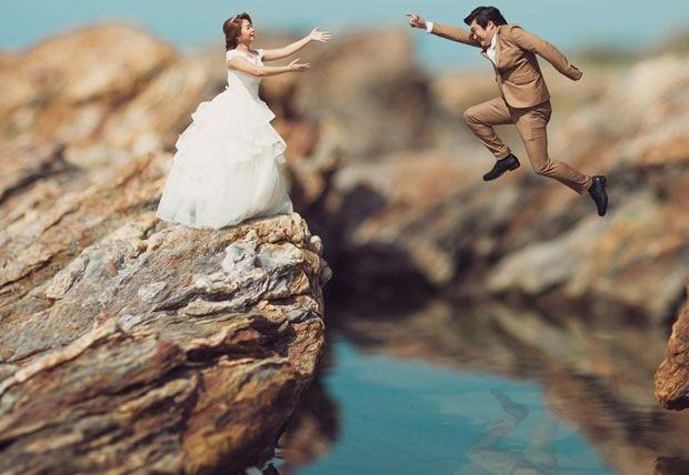 Bu düğün fotoğrafları ezber bozuyor! 24