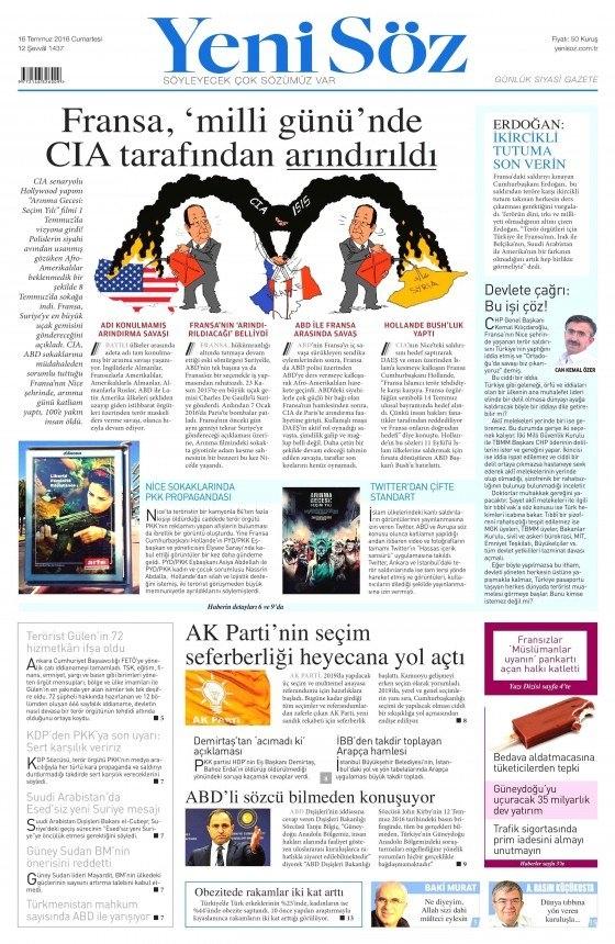 16 Temmuz 2016 gazete manşetleri 15