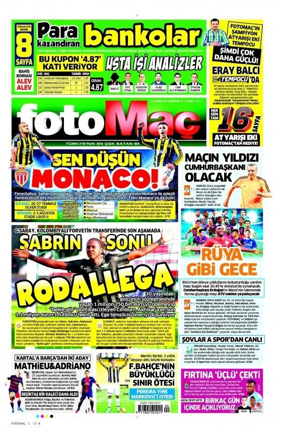 16 Temmuz 2016 gazete manşetleri 26
