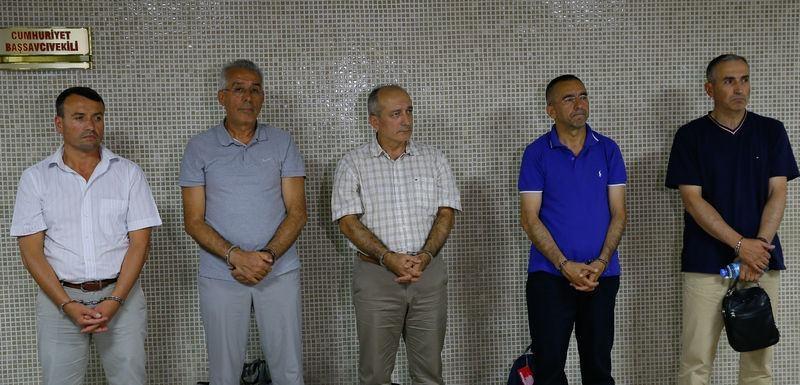 Yunanistan'a kaçan darbeciler Adliye'ye böyle geldiler 74