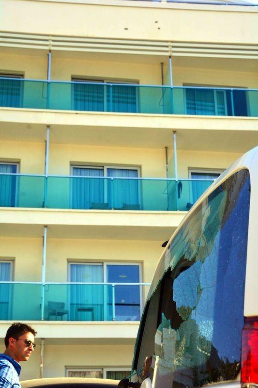 Erdoğan'ın konakladığı otele yapılan saldırının izleri 42