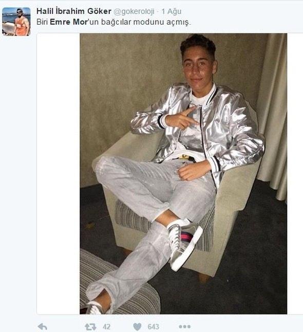 Emre Mor'un kıyafeti sosyal medyayı salladı! 4