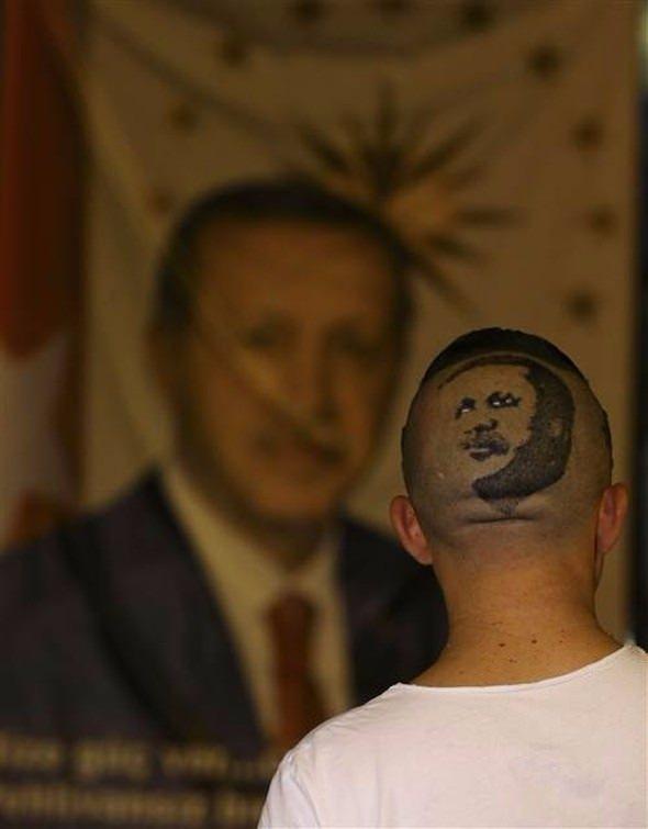 Erdoğan'ın portresini kalfasının başına resmetti 8
