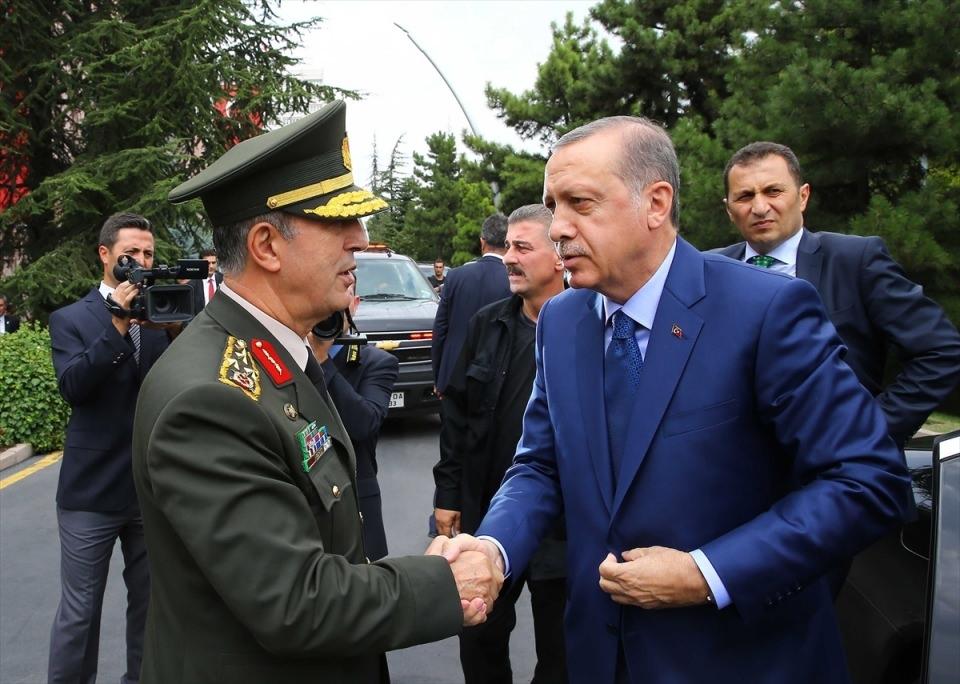 Cumhurbaşkanı Erdoğan, Genelkurmay karargahında 1