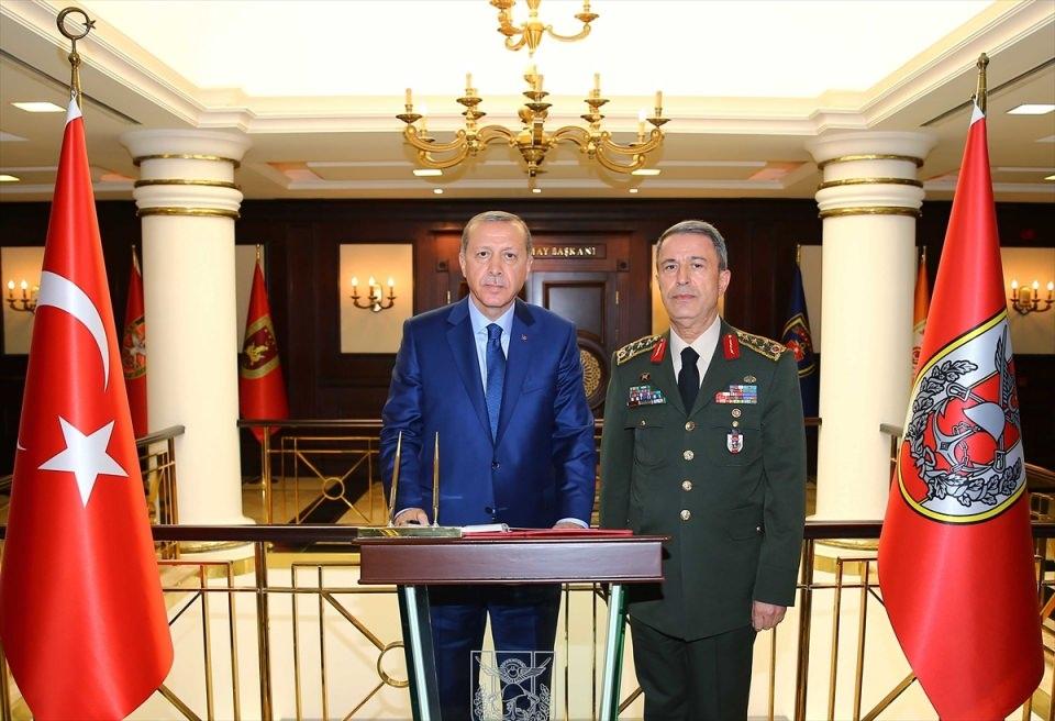 Cumhurbaşkanı Erdoğan, Genelkurmay karargahında 16