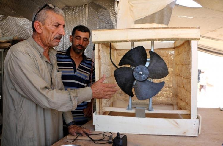 Bu da Suriyelilerin 'Vantilatör klima'sı 5