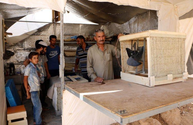 Bu da Suriyelilerin 'Vantilatör klima'sı 6