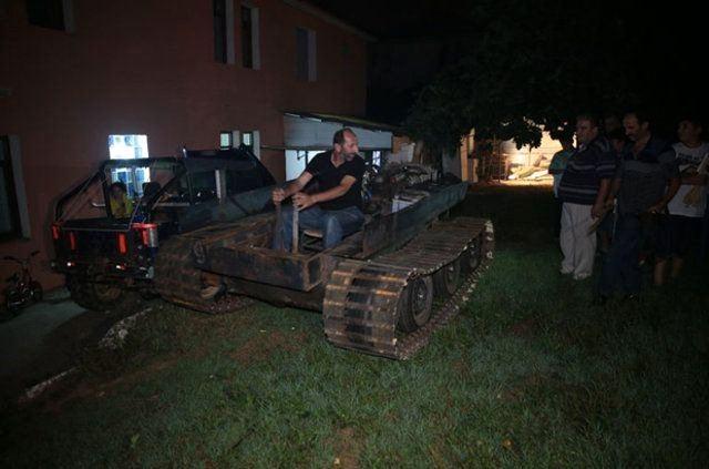 Darbecilere kızdı 'tank' yaptı 6