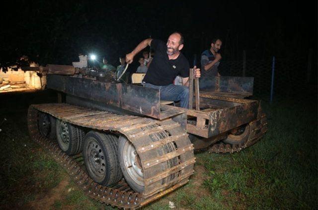 Darbecilere kızdı 'tank' yaptı 9