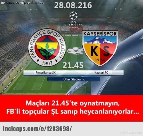 Fenerbahçe-Kayserispor maçı Caps'leri 20