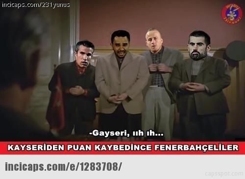 Fenerbahçe-Kayserispor maçı Caps'leri 21