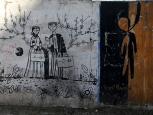 Sorunlarını duvara çiziyorlar