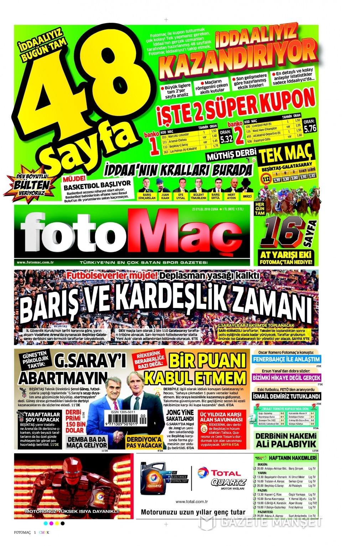 23 Eylül Cuma gazete manşetleri 12